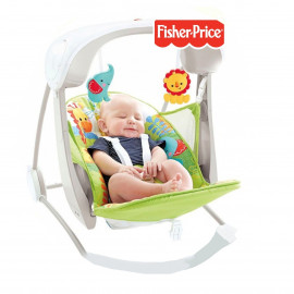 51 كيدز اند تويز | fisher-price Rain-forest Take-Along Swing & Seat