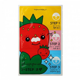 TONYMOLY | Runaway Strawberry Seeds 3 Step Nose Pack