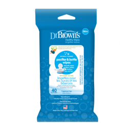 dr brown |  Pacifier& Bottle Wipes, 40-Pack