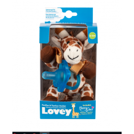 dr brown | Giraffe Lovey with Blue One-Piece Pacifier