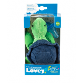 dr brown |  Turtle Lovey with Blue One-Piece Pacifier