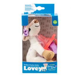 dr brown | Deer Lovey with Pink One-Piece Pacifier