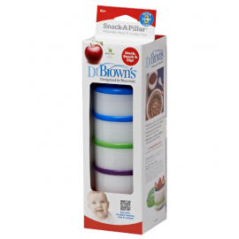 dr brown |   Snack-A-Pillar™ Snack& Dipping Cup, 4-Pack